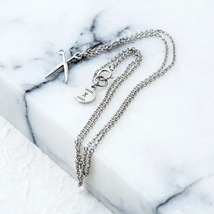 Mary Go Silver Necklace
