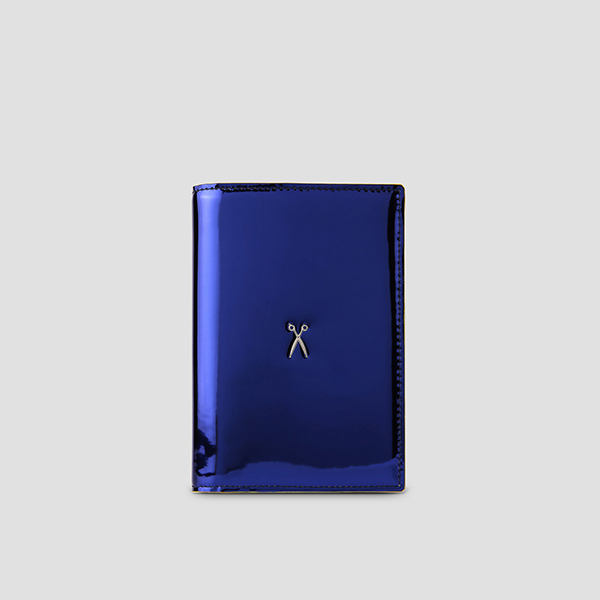Easysafe Flap It Passport Wallet Mirror Blue