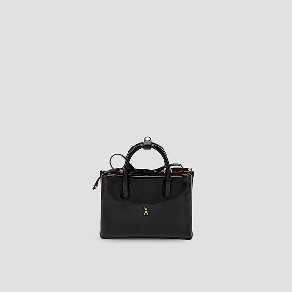 Stacey Tote Mini Patent Night Black
