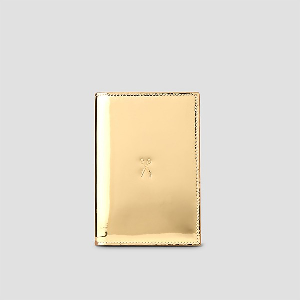 Easysafe Flap It Passport Wallet Mirror Gold