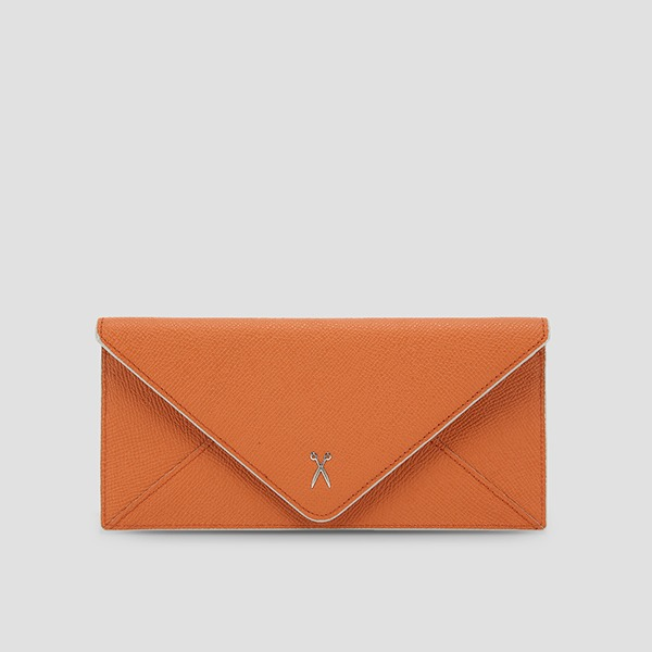Easypass Amante Flat Wallet Long Sand Orange(M)