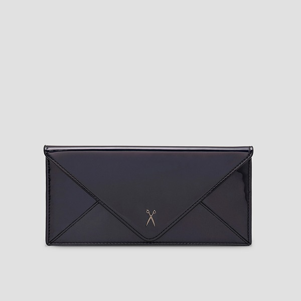 Easypass Amante Flat Wallet Long Mirror Black