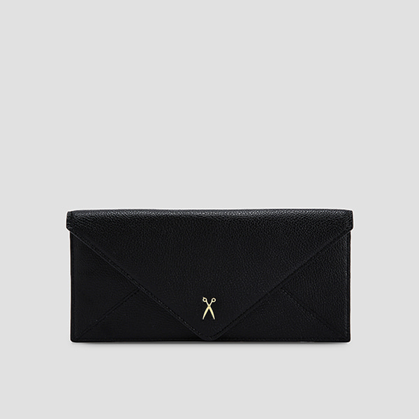 Easypass Amante Flat Wallet Long Rich Black(M)