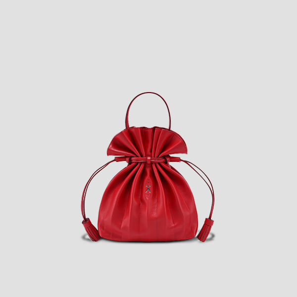 [EXID 하니 착용]Lucky Pleats Crossbag Barbados Red