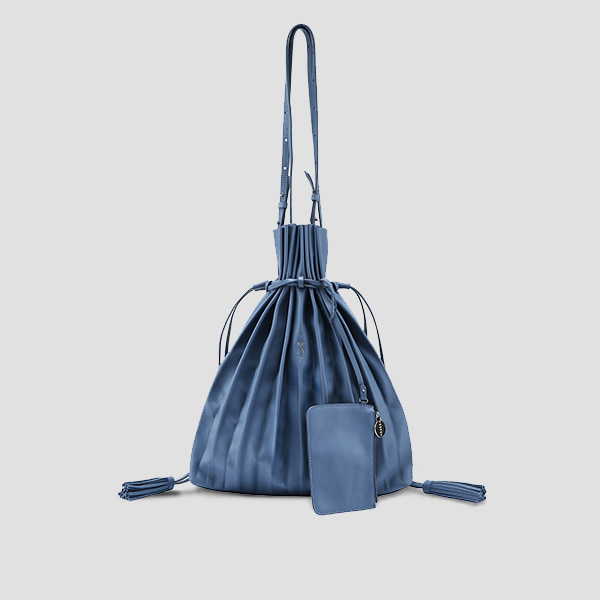 Lucky Pleats Shopper British Blue