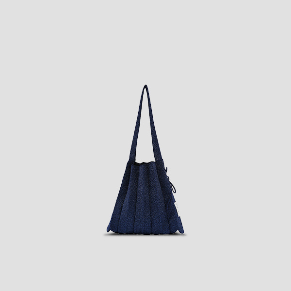 Lucky Pleats Knit S Starry Navy