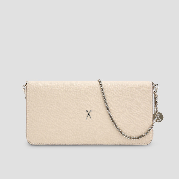 [이엘 착용]  Easypass OZ 2-Way Wallet Pouch Ecru Beige