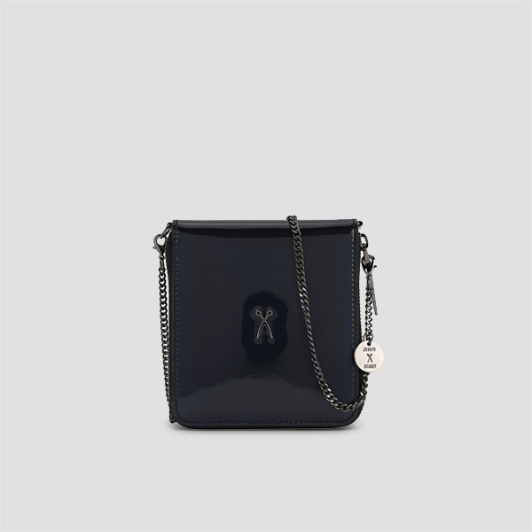 Easypass OZ Wallet Bolt With Chain Mirror Black