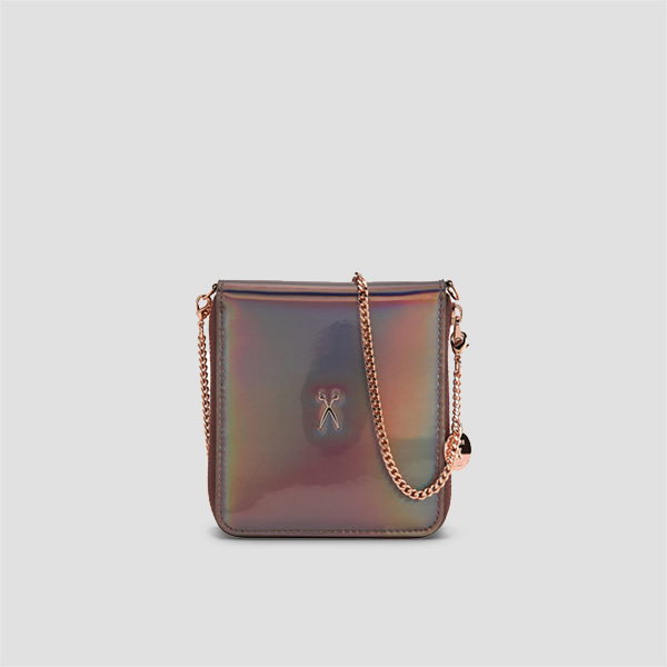 Easypass OZ Wallet Bolt With Chain Mirror Brown