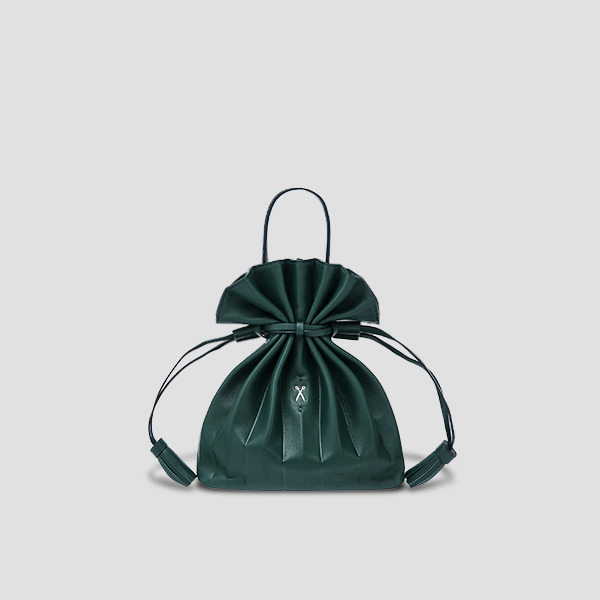 [강민경 착용]Lucky Pleats Crossbag Pine Green