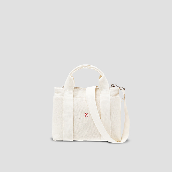 [악뮤 수현 착용]Stacey Daytrip Tote Canvas S Ivory