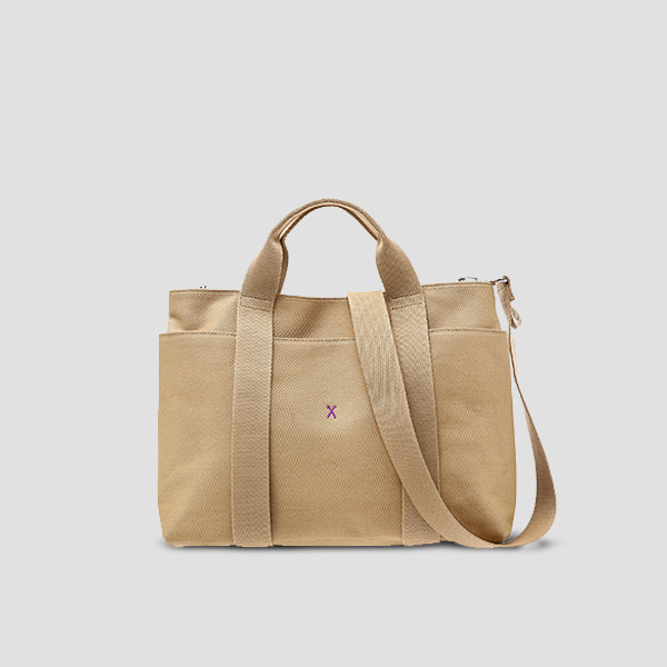 Stacey Daytrip Tote Canvas M Beige