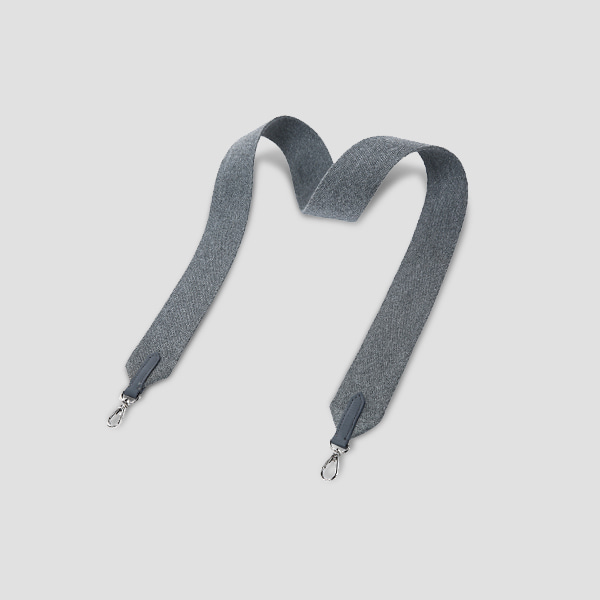 Playful Wide Webbing Strap Melange Grey