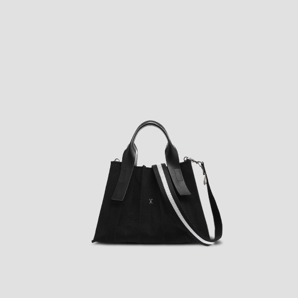 Lucky Pleats Canvas S Black_Black(+Webbing Strap)