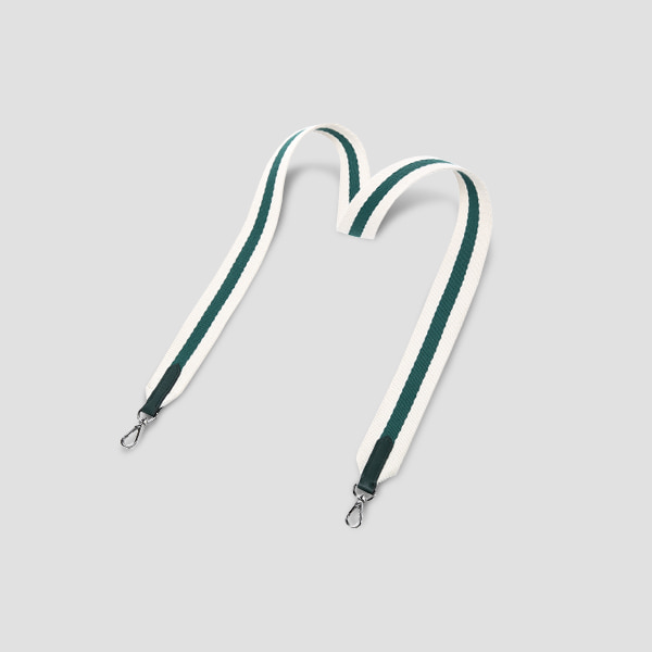 Playful Stripe Webbing Strap Pine Green