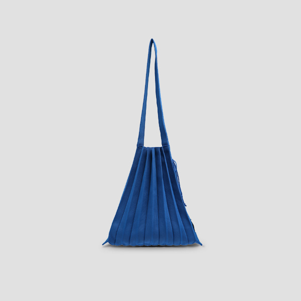 Lucky Pleats Knit M Cobalt Blue