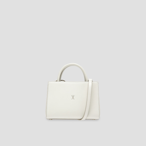 [5월 입고예정]Lucky Pleats Tote S Lily Bone