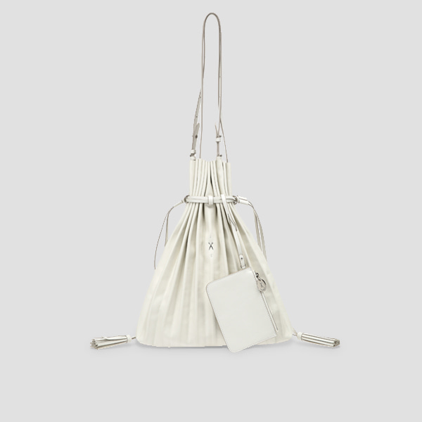 Lucky Pleats Shopper Lily Bone