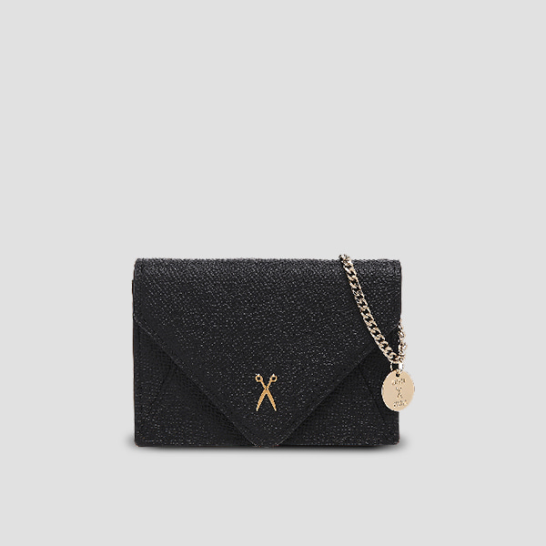 Easypass Amante Card Wallet with Chain Rich Black