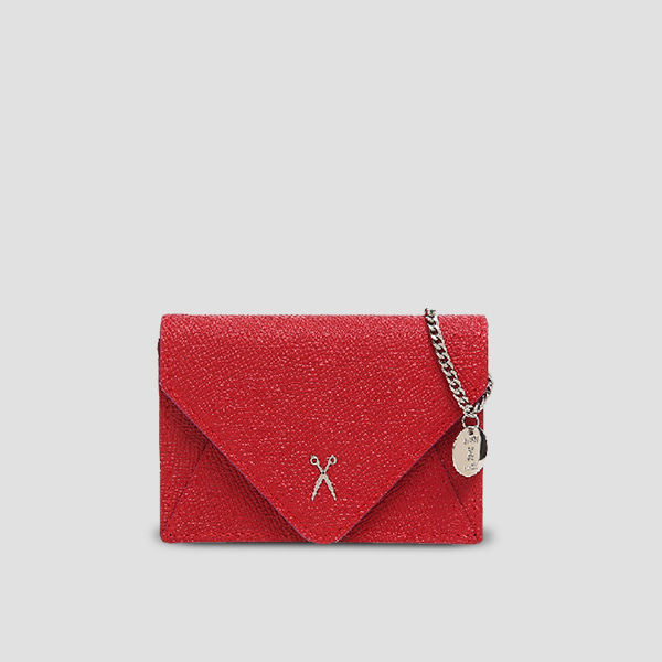 Easypass Amante Card Wallet with Chain Barbados Red