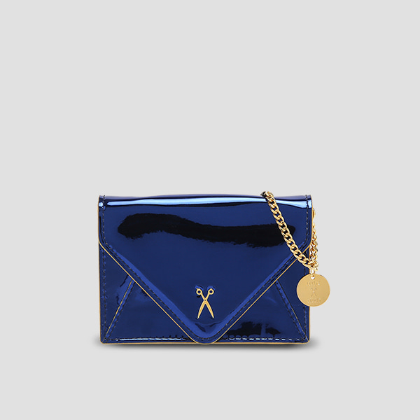 Easypass Amante Card Wallet with Chain Mirror Blue
