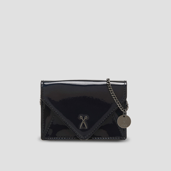 Easypass Amante Card Wallet with Chain Mirror Black