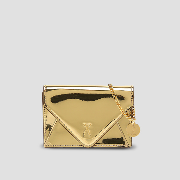 Easypass Amante Card Wallet with Chain Mirror Gold
