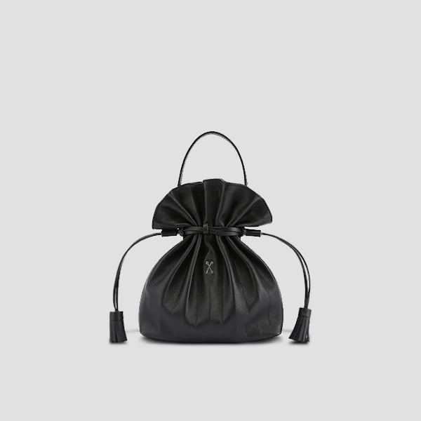 [정려원/경리 착용]Lucky Pleats Crossbag Rich Black