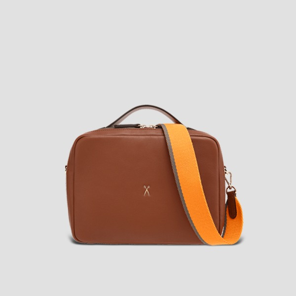 OZ Square Bag Tortoise Brown