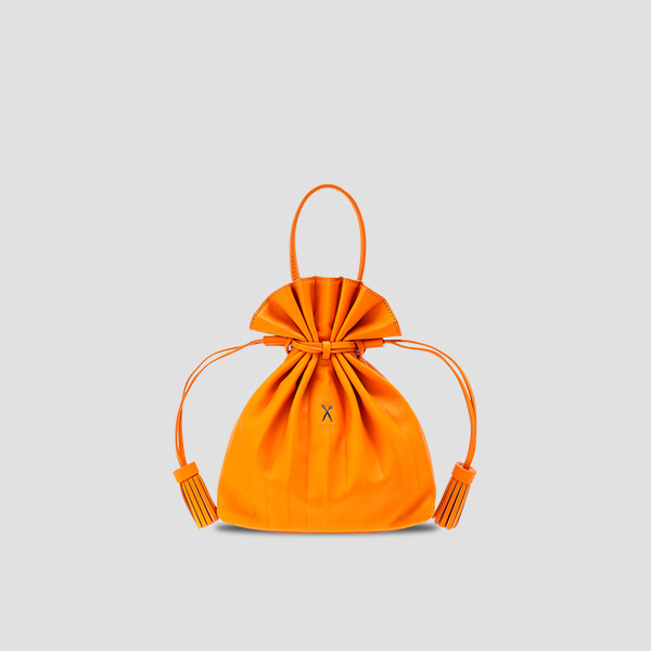 Lucky Pleats Crossbag Electric Orange