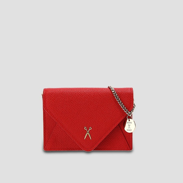 Easypass Amante Card Wallet With Chain Chroma Red