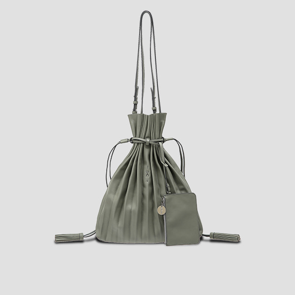 Lucky Pleats Shopper Gravity Grey