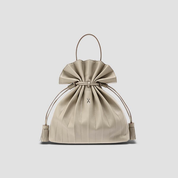 Lucky Pleats Crossbag M Ecru Beige
