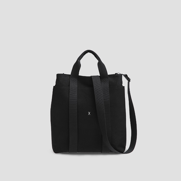※BESPOKE(자수)가능※Stacey Daytrip Tote V Canvas Black