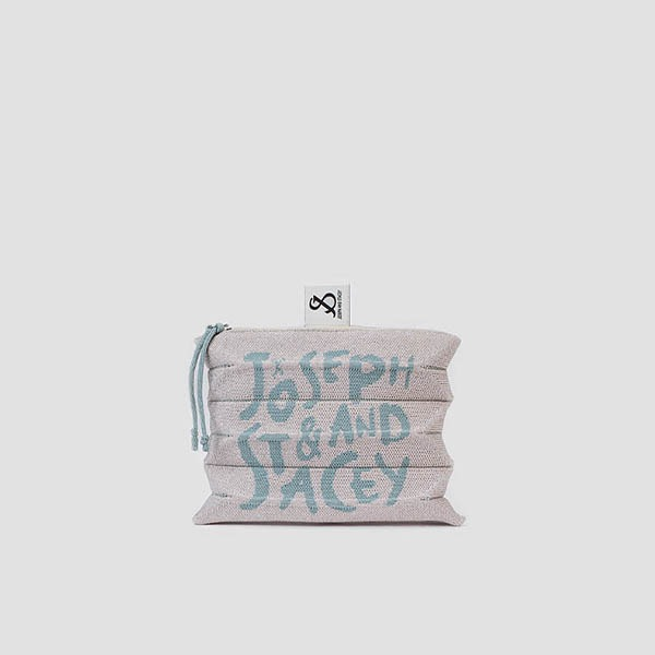 Lucky Pleats Pouch Graffiti S Starry Cream