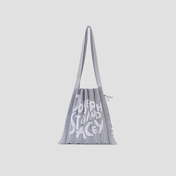 Lucky Pleats Knit Graffiti M Platinum