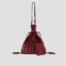 Lucky Pleats Shopper Russet Brown