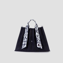 [5/13 발송예정]Lucky Pleats Canvas Graffiti L Black