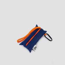 Lucky Pleats Pouch Slim Mid Blue